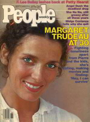Margaret Trudeau, People Magazine, Sep 1978
