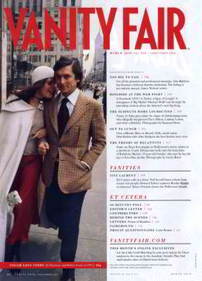 Ali MacGraw And Robert Evans, Vanity Fair, Mar 2010