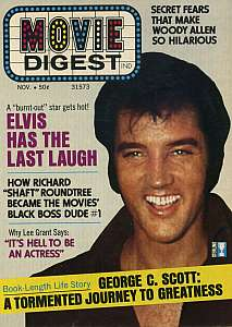 Movie Digest, November 1972, Elvis Presley